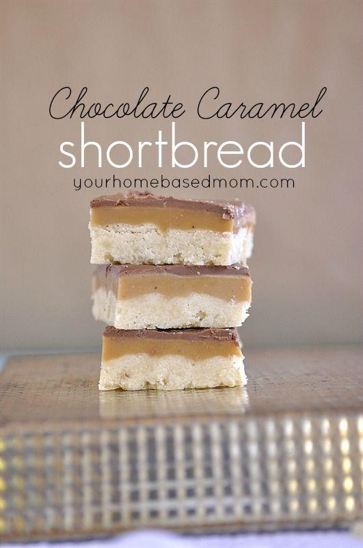 Chocolate Caramel Shortbread    yourhomebasedmom.com