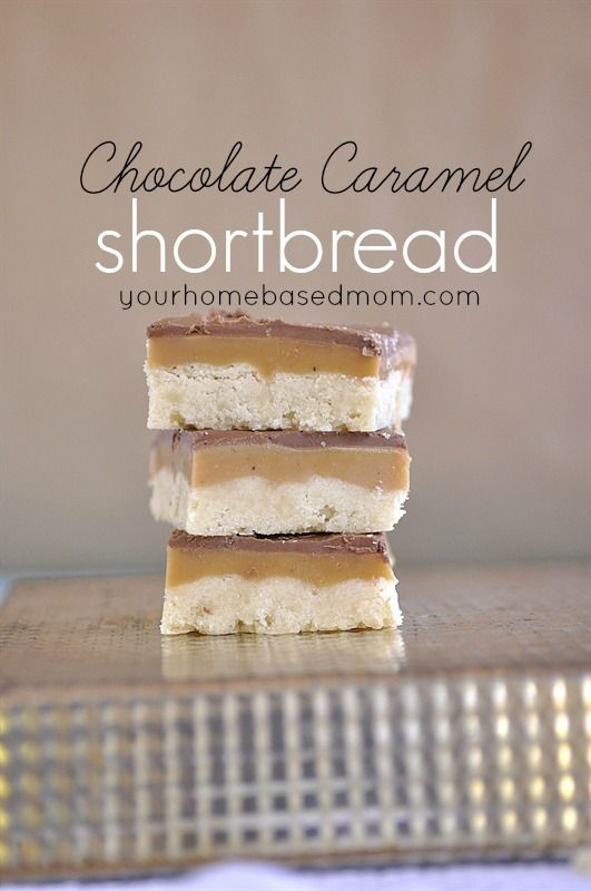 Chocolate Caramel Shortbread  | yourhomebasedmom.com shared on Today's Creative Blog