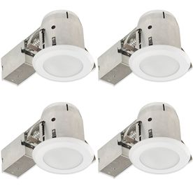 Globe Electric White Remodel And New Construction Recessed Light Kit (