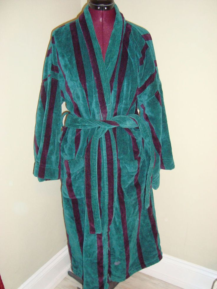 bill blass one size men 39 s teal burgundy thick cotton terry cloth bath robe teal cloths and. Black Bedroom Furniture Sets. Home Design Ideas