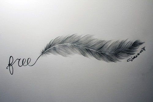 i want this on the arch of my foot but have the feather break off into birds