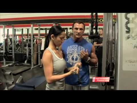 Instructional FItness - Cable Curls #GetSlim with InnerTitan Build-a-Plan workouts at www.InnerTitan.com