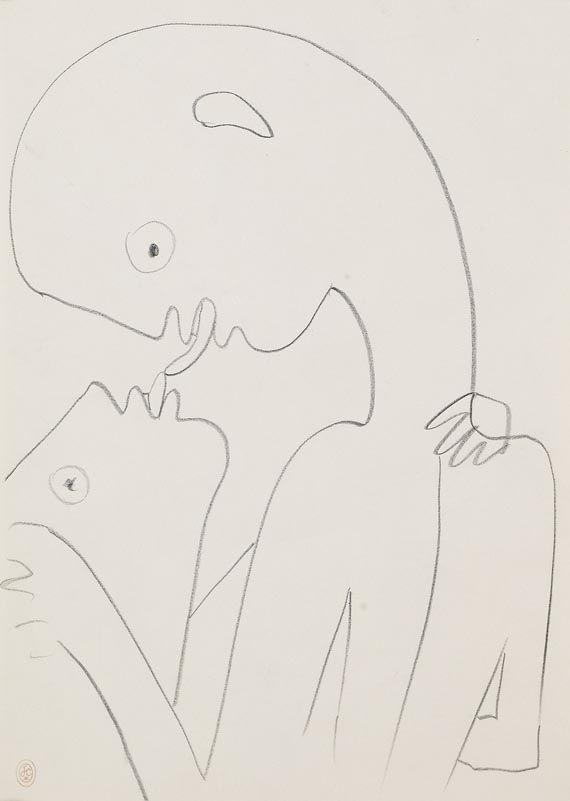 modovoi:  sbhb:  amare-habeo:  Jean Cocteau - Le baiser (Kiss), 1957