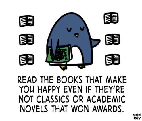 Reading should always be enjoyable