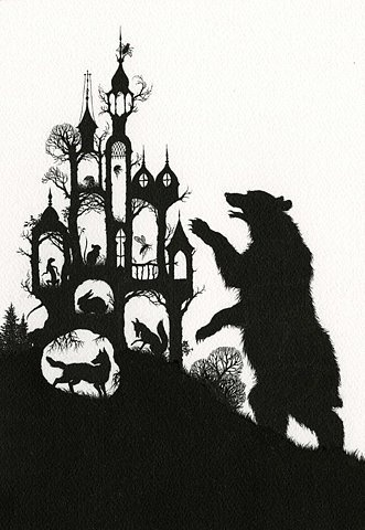 T R E A S U R E F I E L D: Illustrations, Silhouette, Fairy Tales, Art, Niroot Puttapipat, Castle, Paper Cutting, Fairytale