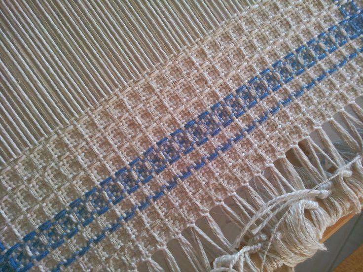 Waffle weave on a rigid-heddle loom