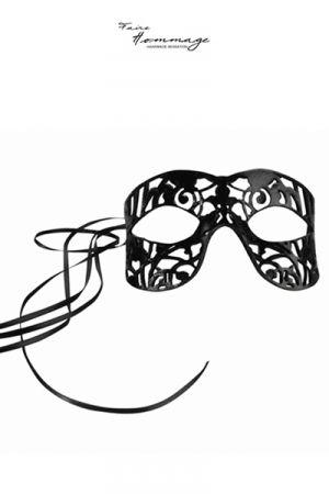 Masque en Cuir d'Agneau pour Travesti Faire Hommage Fragile
