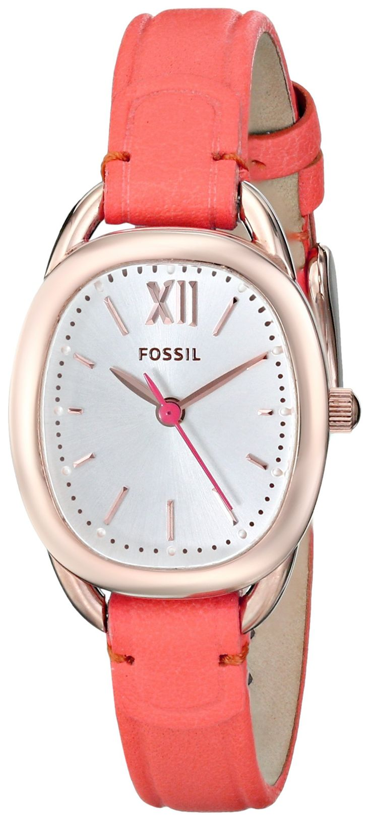 34 Best Fashion Images On Pinterest Womens Watches Female Fossil Es3816 Original Amazoncom Es3580 Sculptor Three Hand Leather Watch Lipstick Coral Red