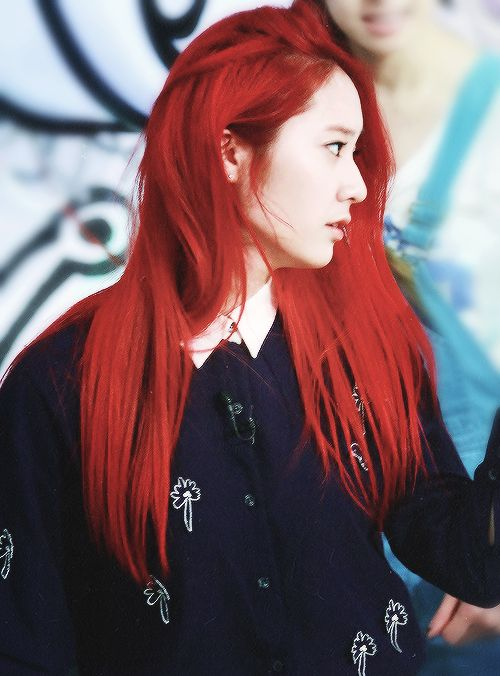 Ulzzang Red Hair red haired ulzz...