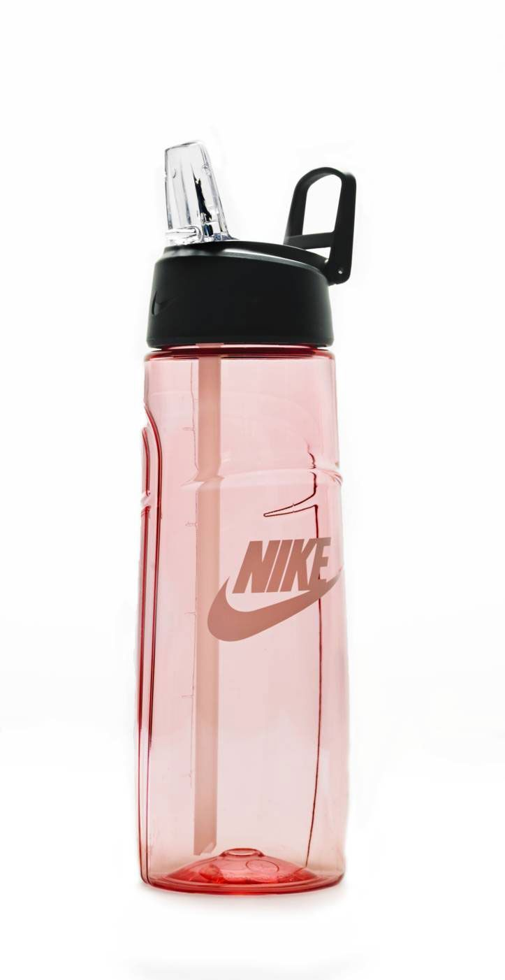 Staying hydrated is the most important part of any workout. Keep water close at hand with a durable and leak- proof bottle by Nike.