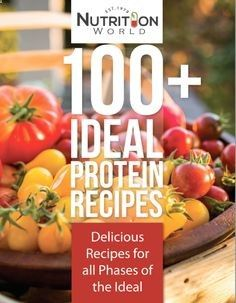 Free Ideal Protein Recipes ebook from Nutrition World #idealprotein #weightloss #idealproteinrecipes