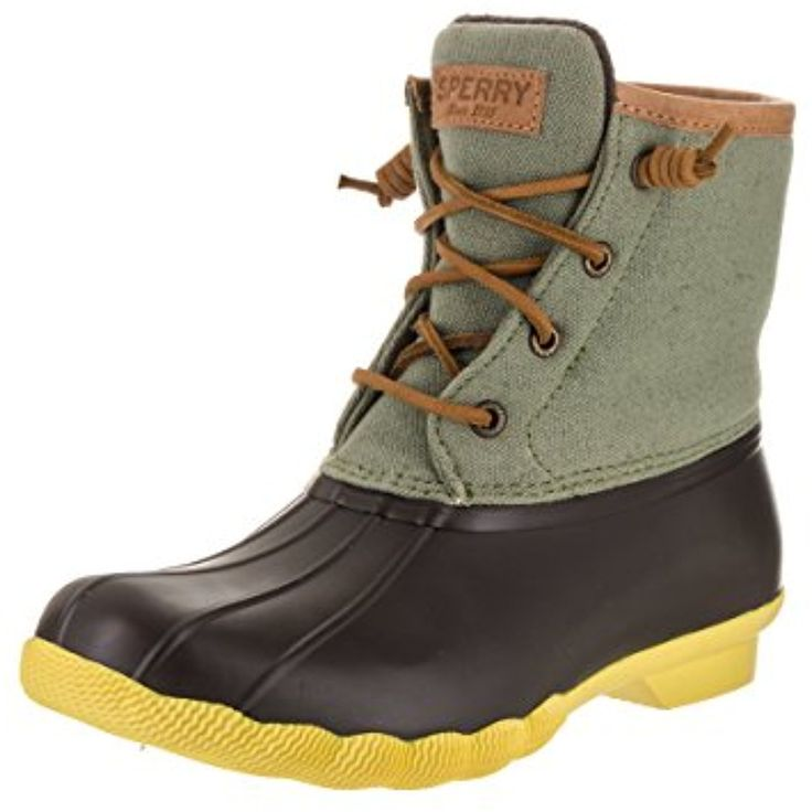 Top-Sider Women's Saltwater Pop Outsole Duck Boot,Brown/Olive Rubber,US 5 >>> Read more reviews of the product by visiting the link on the image. (This is an affiliate link and I receive a commission for the sales) #Outdoor