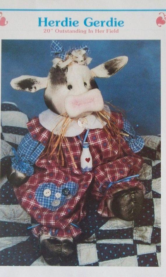 """Craft Sewing Pattern Herdie Gerdie 20"""" by Bonnie Hunter -Etsy LindaHarvey,"""