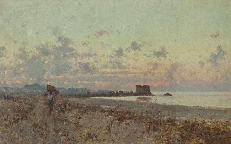 Castel di Tusa (olio su tela, 29x49 cm, collezione privata)