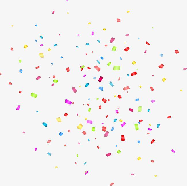 Exquisite Color Confetti Vector Png And Vector Picsart Background Color Confetti