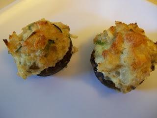 Shelly's Crab Stuffed Mushrooms (Eggface!)