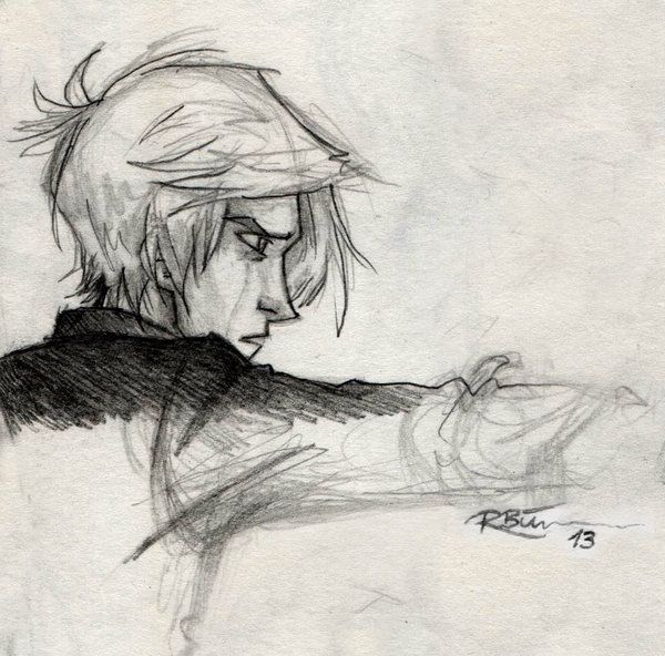 Astronomy Tower by CaptBexx.deviantart.com on @deviantART Sketch of Malfoy in 6th year
