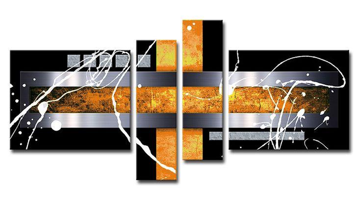 MB_Cuadro Abstracto 01 Naranja