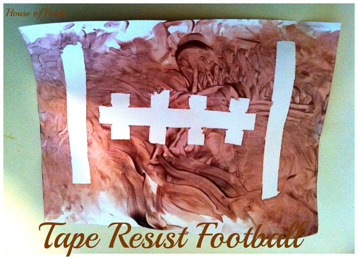 House of Burke: Tape Resist Football
