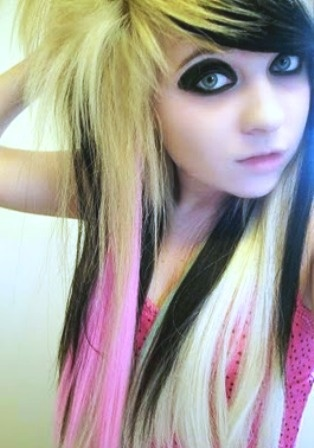 Cute Long Emo Hairstyle