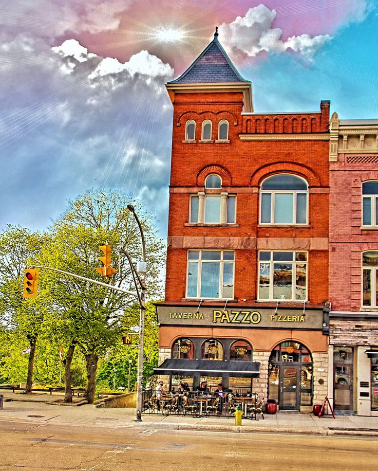 Stratford Ontario ~ Canada ~ Taverna PAZZO Pizzeria ~ Heritage Building Canada is a North American region stretching from america…