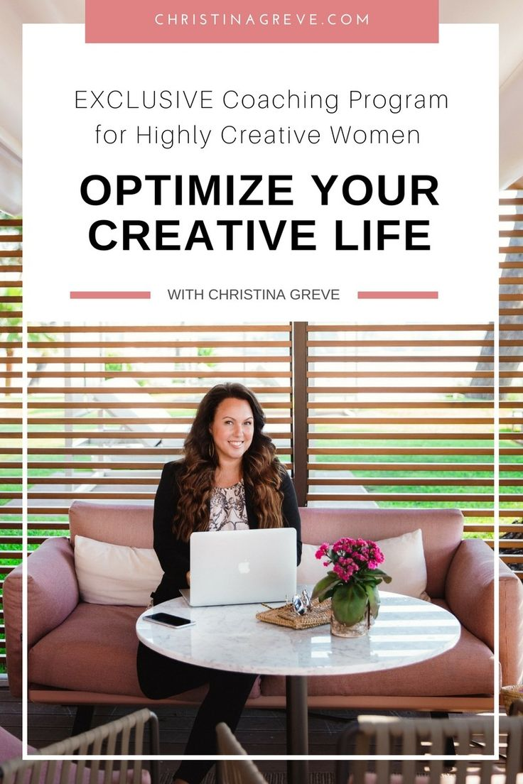 NEW EXCLUSIVE ONLINE PROGRAM: Optimize Your Creative Life - Click here for full info + Secure your seat: www.optimizeyourcreativelife.online