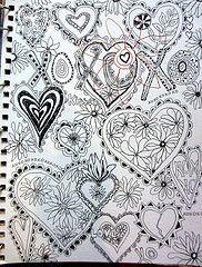 ,Jane Lafazio, Doodles Art, Heart Zentangle, Zentangle Heart, Heart Doodles, Drawing Doodles, Art Journals, Doodles Heart, Zentangle Doodles