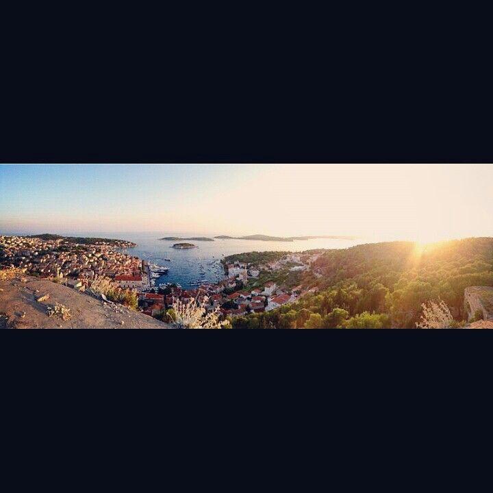 #hvar #croatia #island #pakleni #landscape #forteza #sea #sunset