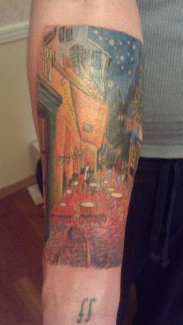 Van Gogh Tattoos | Cafe Terrace at Night- Van Gogh tattoo