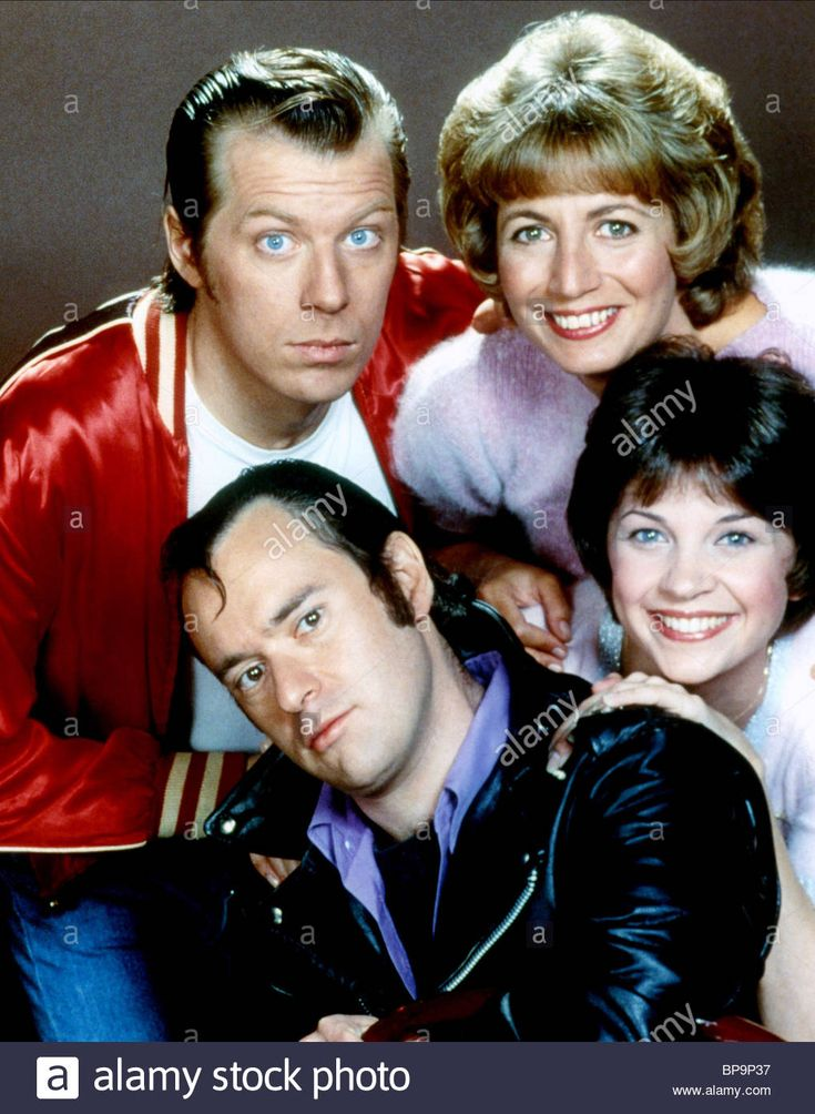 DAVID L. LANDER MICHAEL MCKEAN PENNY MARSHALL & CINDY WILLIAMS LAVERNE & SHIRLEY (1976) Stock Photo