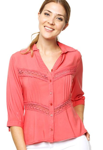 Camisa Coral Tibetano