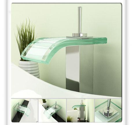 glass waterfall bathroom vessel sink faucet modern bathroom faucets by sinofaucet