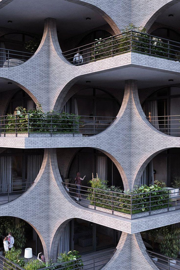 penda's high-rise celebrates tel aviv's bauhaus era with cascading terraces and arches – yukihiko1953