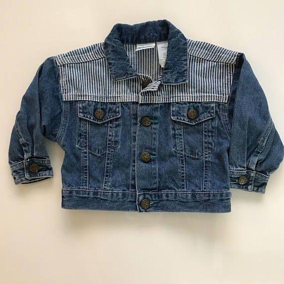 Vintage denim jacket for baby.  baby denim jacket for sale.