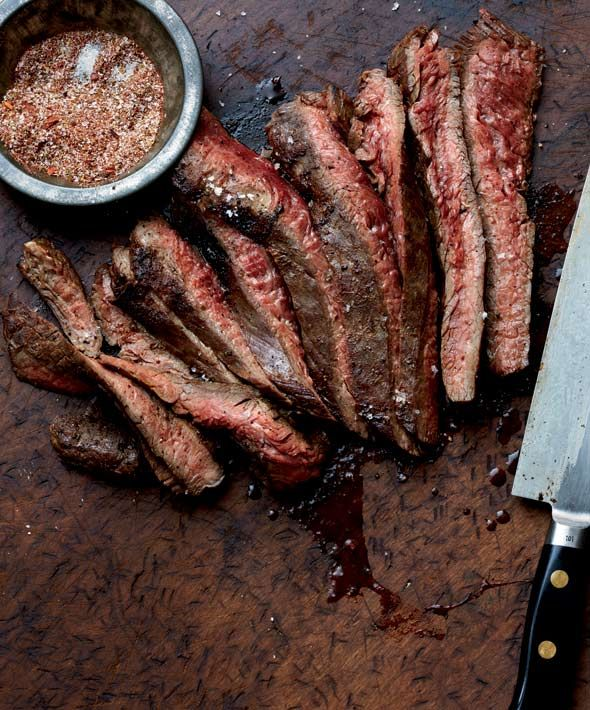 Grilled Flank Steak With Chile Spice Rub - also works with skirt steak ...