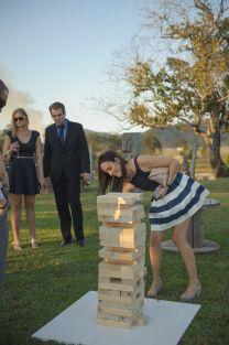 Wedding lawn games, giant jenga