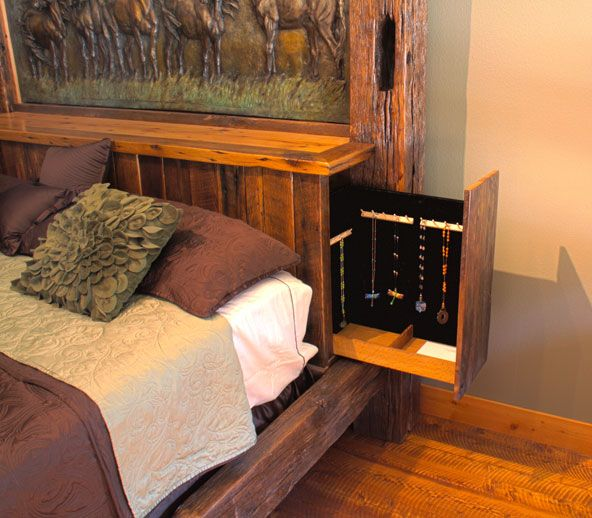 Rustic bed by daniel parker this bed features a hidden - Bedroom sets with hidden compartments ...