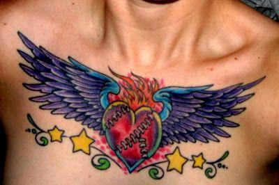 irish chest tattoos for women | chest tattoo designs for women chest tattoos design part 9 chest ...