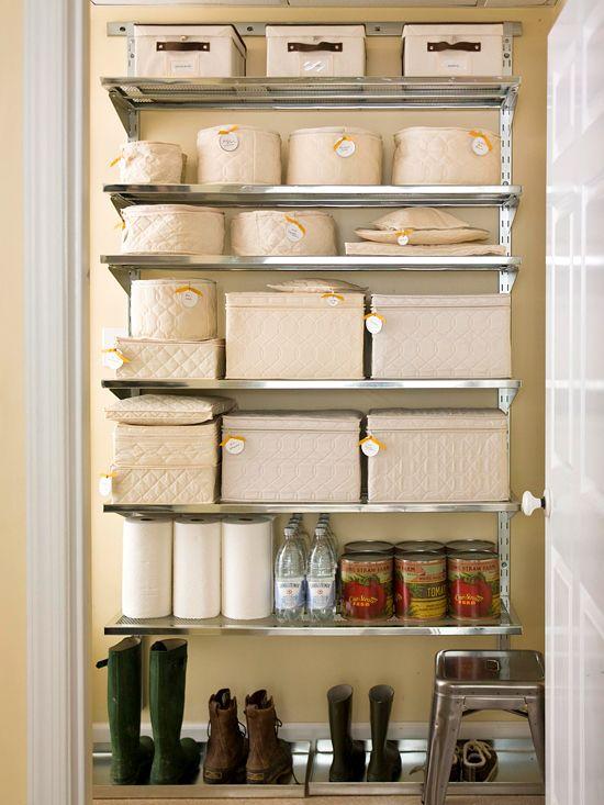 149 best images about pantry ideas on pinterest hidden for Basement closet ideas