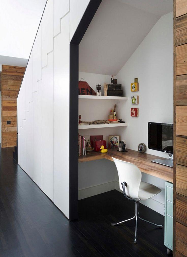 Les 25 meilleures id es concernant bureau sous un escalier for Idee bureau petit espace