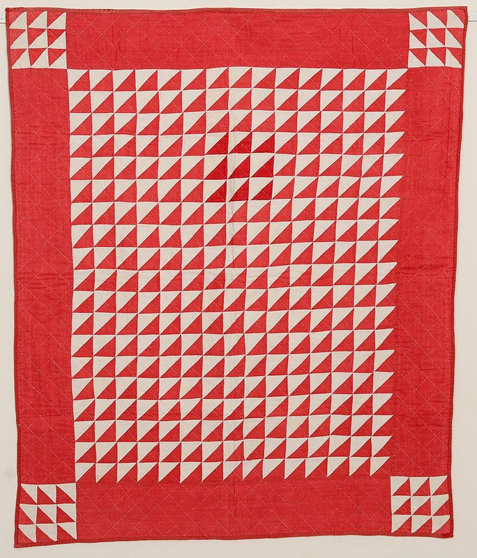 Red dress quilt 1880s