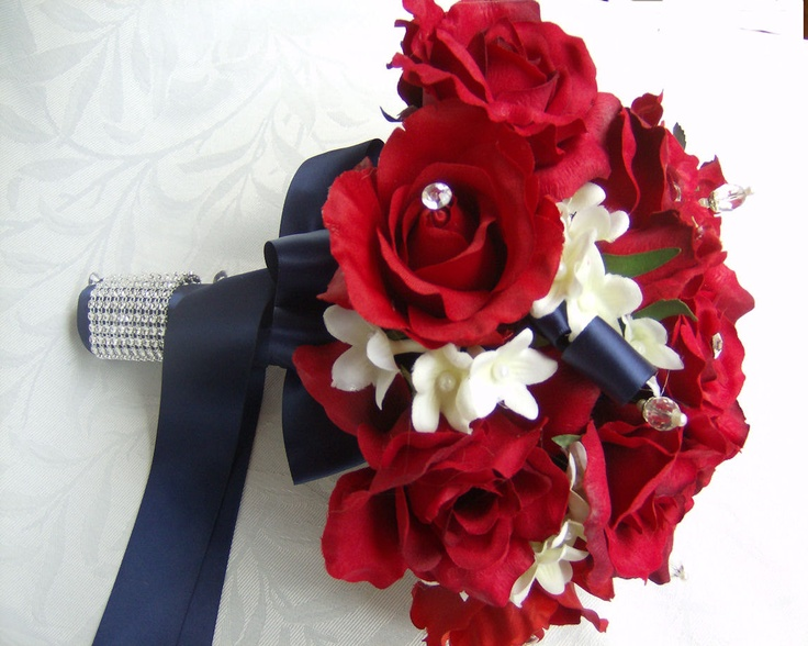 Red Garden Rose Bouquet 45 best red white and blue bouquets images on pinterest | flowers