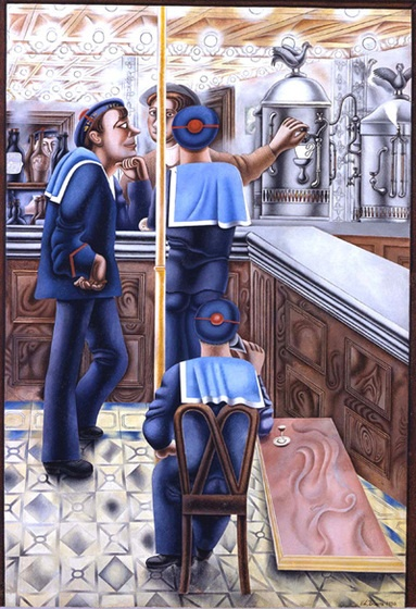 Edward Burra ~Via A Flaneur's Art Gallery