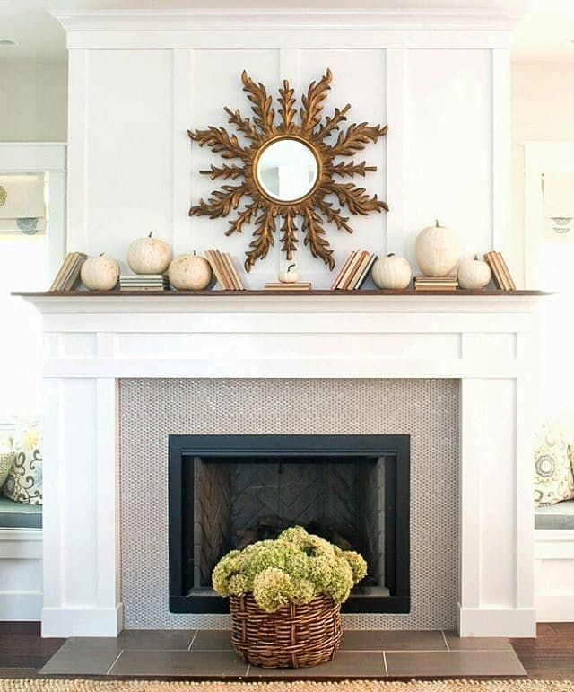 Look We Love: Fall Decor with White Pumpkins | Apartment Therapy