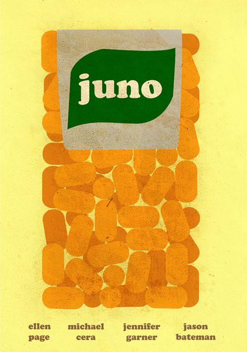 Juno (2007) - Minimal Movie Poster by Paul Rice ~ #minimalmovieposter #alternativemovieposter #paulrice