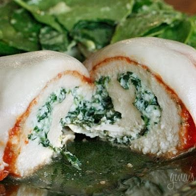 Chicken Rollatini with Spinach alla Parmigiana
