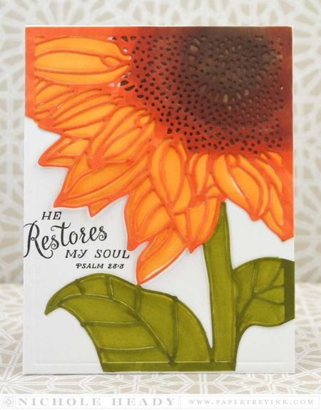 Restores My Soul Card by Nichole Heady for Papertrey Ink (November 2015)