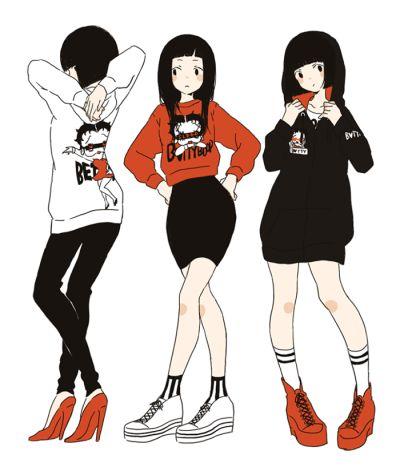 urban fashion anime style  http://www.pixiv.net/member_illust.php?mode=medium&illust_id=41553262