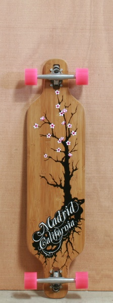 "Madrid 39"" Cherry Bamboo Longboard Complete http://www.thelongboardstore.com/longboards/madrid/39-cherry-bamboo-complete/"