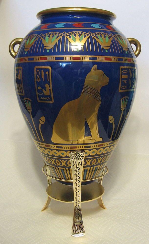 Bastet Egyptian Vase Franklin Mint 24K Gold Named The ...